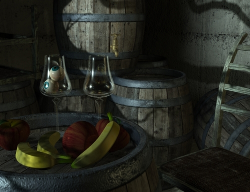First 3D training 'Rustic' scene render