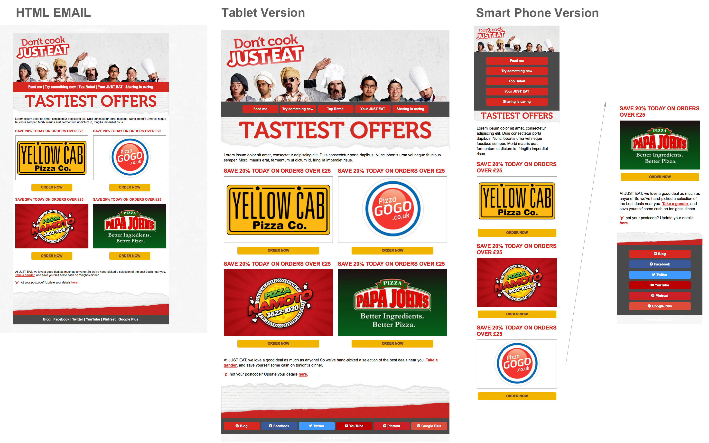 Just Eat responsive email