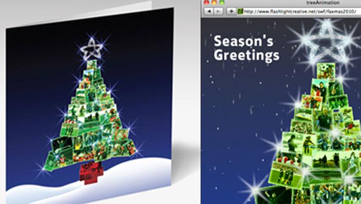 Digital Christmas Cards.Digital Christmas Card Wolfman